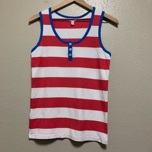 Women's Lilly Pulitzer pink and white striped tank